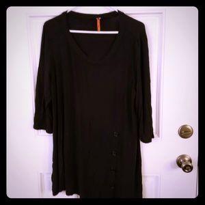 Black cotton nightgown